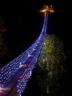 Capilano Suspension Bridge, North Vancouver, BC, Canada.