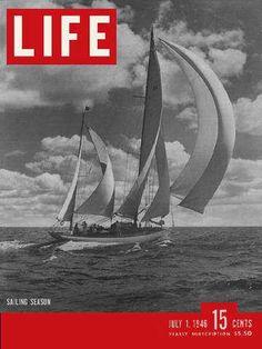 Life Magazine, July 1, 1946 - Sailboat