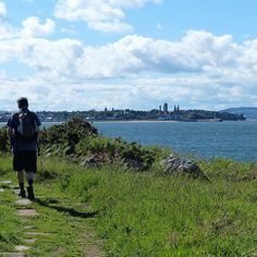 Approaching St Andrews on the Fife Coastal Path Fife Coastal Path, St Andrews Scotland, Places Ive Been, Paths, Cottage, Mountains, Travel, Instagram, Viajes