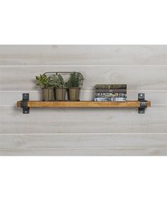 This Industrial Grace Floating Shelf, Walnut is perfect! #zulilyfinds
