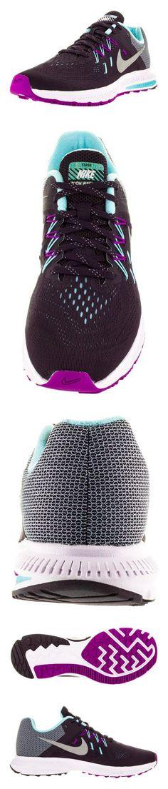 $100 - Nike Women's Zoom Winflo 2 Flash Nbl Prpl/Rflct Slvr/Vvd Prpl/C Running Shoe 7 Women US #shoes #nike