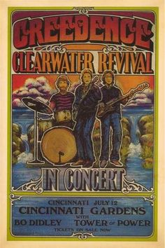 CCR concert poster....