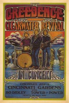 CCR concert poster....