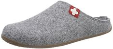 Living Kitzbühel Pantoffel Schweizer Kreuz mit Fußbett, Pantoufles non doublées mixte adulte - Gris - Grau grau), 41 EU - Chaussures living kitzbhel (*Partner-Link) Unisex, Partner, Slippers, Pure Products, Wool, Pants, Shoes, Link, 100 Pure