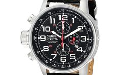 Cheap Watch Best For Men Deals Leather Strap Left Handed Invicta Collection 2770