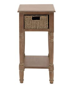 Look at this #zulilyfind! Natural Wood Basket Accent Table by UMA Enterprises #zulilyfinds