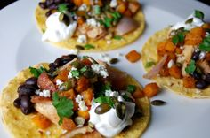 Autumn Spiced Tacos with Pan-Seared Chicken and Butternut Squash http://www.foodandflight.com/recipe-items/autumn-spiced-tacos-with-pan-seared-chicken-and-butternut-squash/