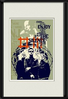 Print Depeche Mode Music poster fine Birthday Gift art - Enjoy the Silence - cotton canvas giclee $32.00+ by Artistico, based in Greece, and selling on Etsy. #music #musik