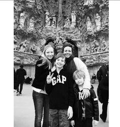 Prinses Annette met kinderen, Isabella, Samuel en Benjamin