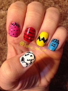 Peanuts nails!! For more nail designs check out my Instagram! @leslies_nail_art