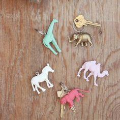Des animaux pastel en porte-clé!