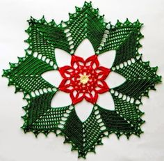 Carpeta navideña tejida al crochet con esquema gratuito