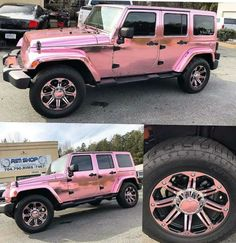 Pink chrome jeep