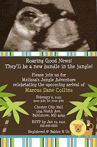 Personalized King of The Jungle Baby Shower Invitation   eBay