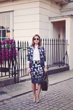 Blogger  Eileen Cuisine  in the Dipsy Daisy Jacket  amp  Skirt  yumi   24ae56b9fe4