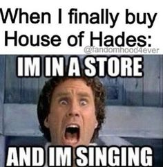 Actually, we pre-ordered it, so it's gonna be mailed to our house. However, if in the event that I had to go to a bookstore to buy HoH, this would totally be me. ;)