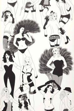 Burlesque | Carta da parati degli anni 70