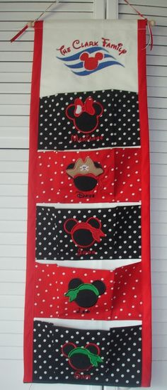 disney cruise ribbon | Five pocket FE Fish extender for Disney Cruise by StitchesNBows its Christmas-y  I love it
