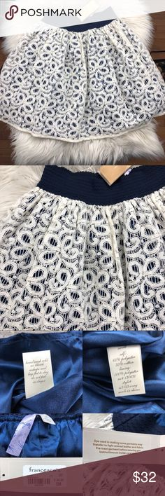 FRANCESCA'S White Lace Skirt NWT Elastic Waist FRANCESCA'S White Lace Skirt NWT Elastic Waist  $44 new.  Measurements in photos.  Adorable for spring and summer! Francesca's Collections Skirts A-Line or Full