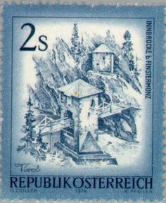 Picture of AUSTRIA - CIRCA 1974 A stamp printed in Austria shows Innbrucke b Finstermunz, from the series Sights in Austria , circa 1974 stock photo, images and stock photography. Stamp World, Stamp Printing, Postage Stamps, Alter, Stock Photos, History, Beautiful, Creative, Artist