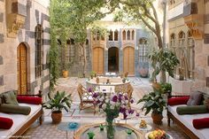 Damascus, traditional syrian house