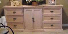 My husband built this dresser for our bedroom sooo many years ago, about 20, to be exact. It was a Thomasville copycat. We loved their style, but we sure could…