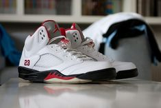 Air Jordan V white-red CDP by Rooog Knows, via Flickr