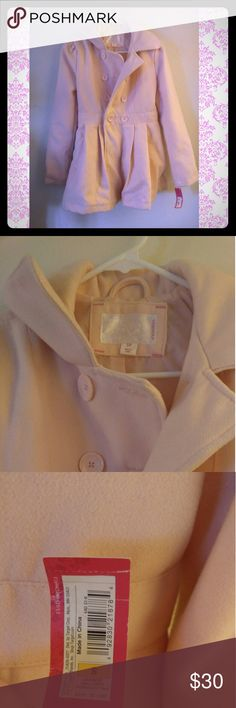 Pink peacoat Very pale pink women's size small peacot great condition brand new with tags. Only tried on never wore it. A few wrinkles just from being in my closet. Jackets & Coats Pea Coats