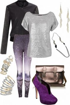 How to wear graphic printed leggings