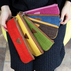 MochiThings.com: Skinny Pencil Case. So colorful !