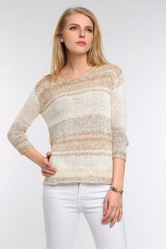 Cozy Neutral Knit Sweater- colours are amplified in real life. sleeves- we wear this all the time to add colour to our wardrobe We Wear, How To Wear, Everyday Items, Designer Collection, Real Life, Neutral, Designers, Cozy