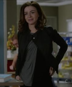 jacket amelia shepherd grey's anatomy caterina scorsone black
