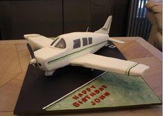 Aeroplane cake - 50th Birthday Aeroplane Cake for a pilot friend.