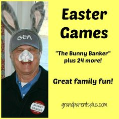 """With families getting together at Easter time, it is always fun to have some Easter games to play besides the regular Easter Egg Hunt.  Games add fun and memories for both kids and adults.  Some of these Easter games my sister and I've made up, some are """"old"""" ones, and some have links to where they can be found. As  I come across or """"think up"""" new ones, I will update and add to this list. You'll notice a different version of the old fashioned egg hunt is turned into the """"Bunny Banker"""". ..."""