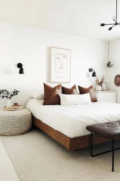 Minimalist Bedroom 55872851614383892 - Basi Walnut Queen Bed Frame Source by prettyinthepines Floating Bed Frame, Teenage Room Decor, My New Room, Home Decor Bedroom, Bedroom Signs, Diy Bedroom, Urban Bedroom, Cheap Bedroom Decor, Bedroom Quotes