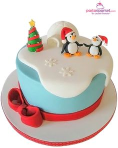 Penguen Doğum Günü Pastası
