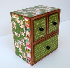 Numbers and Words Three Drawer Jewelry Box by MyButterflySister, $36.00