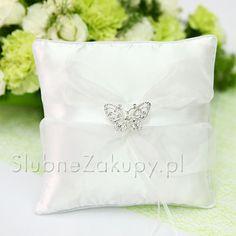 PODUSZKA na obrączki Kolekcja Motyl  #slub #wesele #sklepslubny #dekoracje #slubnezakupy Throw Pillows, Tableware, Toss Pillows, Dinnerware, Cushions, Tablewares, Decorative Pillows, Decor Pillows, Dishes
