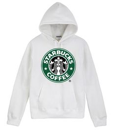 Starbucks White Hoodie for those cold winter days you just wanna stay cozy and keep yourself warm :))