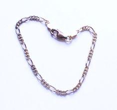 Vintage Sterling Silver 925 Gold Tone Chain Link Bracelet #ChainLink