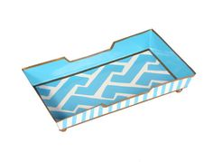 Molly Blue Guest Towel Tray. For my coffee table?