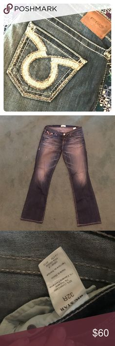 Big Star Maddie Curvy Boot Authentic Big Star Maddie Bootcut Jeans. Size 32R which is equal to a 14! Worn only a few times due to preferring the skinny cut. Great fit for people with more of s curvy fit!! Big Star Jeans Boot Cut