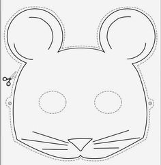 Como hacer una mascara de fomi de raton imagui rat n for Mouse mask template printable