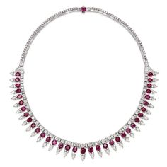 Saffronart Fine Jewels and Silver, AN ELEGANT RUBY AND DIAMOND NECKLACE
