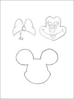 Molde do rosto da Minnie para imprimir - Imagui