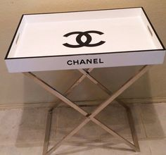 Fabulous Chanel replica Tray Table, Cocktail Table Serving Tray Butler