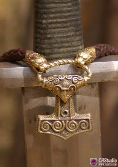 MJOLNIR - Leather Necklace With Bronze Heads - HANDMADE A magnificent jewel, throughout you feel its power! It is an outstanding craftmansship and a fantastic handling of bronze! I love it!!! Our store www.chstd.com. We ship world wide. #mjolnir