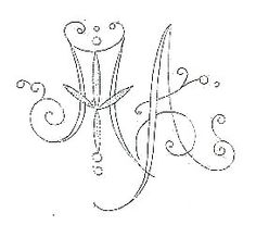 Broderie D'Antan: Embroidery Patterns (44 monograms)