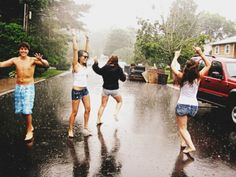dancing in the rain ♥