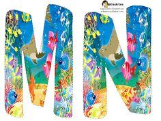 Alfabeto con lindos animales marinos. | Oh my Alfabetos!